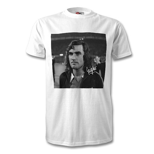 George Best Manchester United Northern Ireland Autographed Mens Fashion T-Shirt