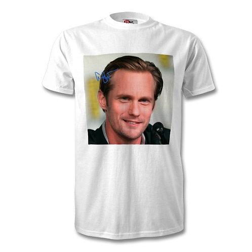 Alexander Skarsgard True Blood Autographed Mens Fashion T-Shirt