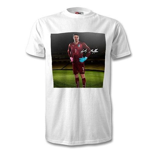 Gianluigi Buffon Italy Autographed Mens Fashion T-Shirt