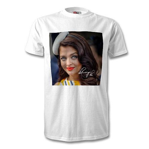 Aishwarya Rai Autographed Mens Fashion T-Shirt