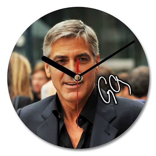 George Clooney Autographed Wall Clock