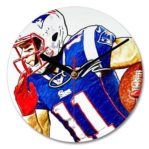 Julian Edelman - New England Patriots - NFL Autographed Wall Clock