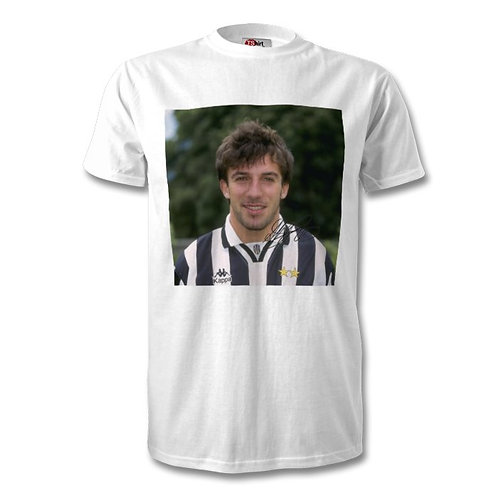 Alessandro Del Piero Italy Juventus Autographed Mens Fashion T-Shirt
