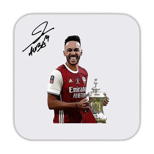 Pierre Emerick Aubameng Arsenal Cup Drinks Coaster 9 x 9cm