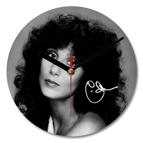 Cher Autographed Wall Clock