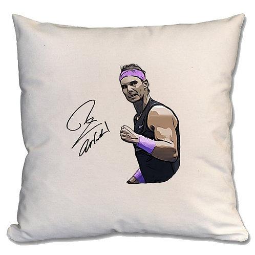 Rafael Nadal Tennis Large Cushion