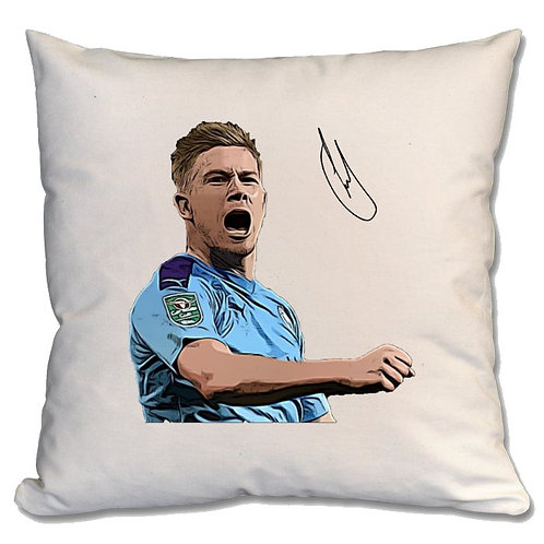 Kevin De Bruyne Manchester City Large Cushion