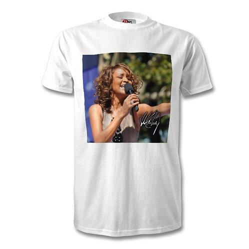Whitney Houston Autographed Mens Fashion T-Shirt