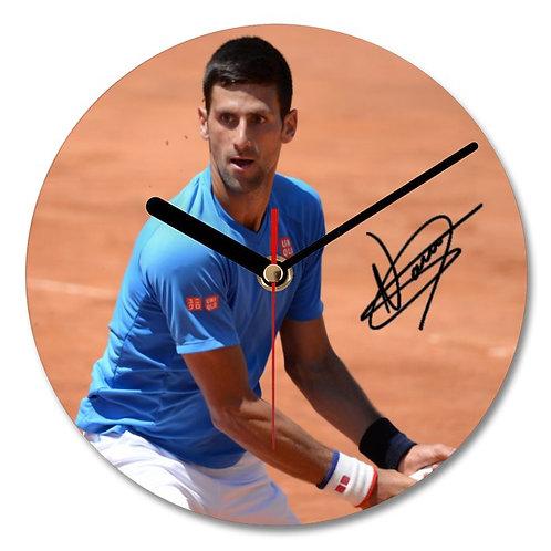 Novak Djokovic Autographed Wall Clock