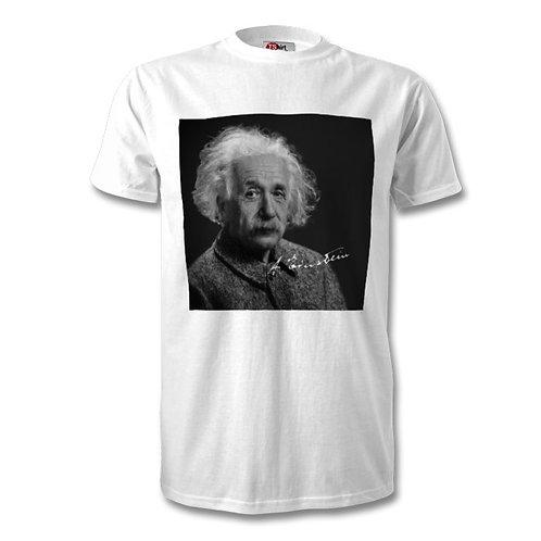 Albert Einstein Autographed Mens Fashion T-Shirt