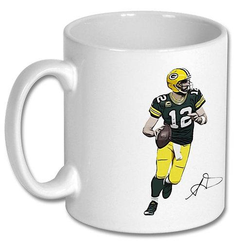 Aaron Rodgers Green Bay Packers 10oz Mug
