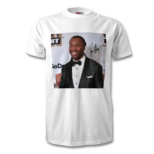 Larry Fitzgerald Arizona Cardinals NFL Autographed Mens Fashion T-Shirt