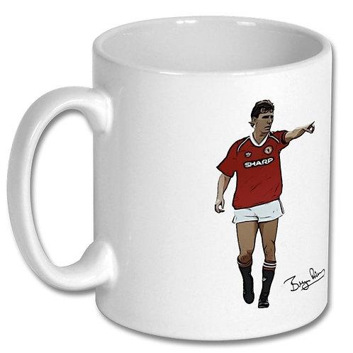 Bryan Robson Manchester United 10oz Mug