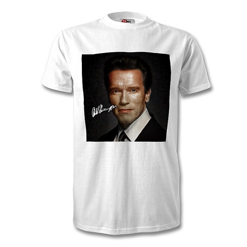Arnold Schwarzenegger Autographed Mens Fashion T-Shirt