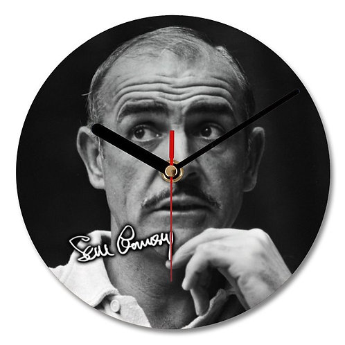 Sean Connery - 007 - James Bond Autographed Wall Clock