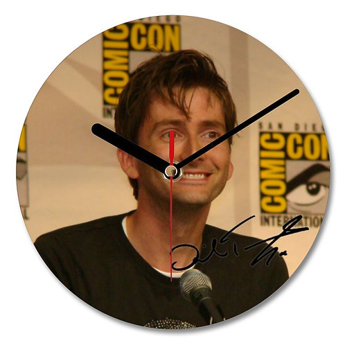 David Tennant Autographed Wall Clock