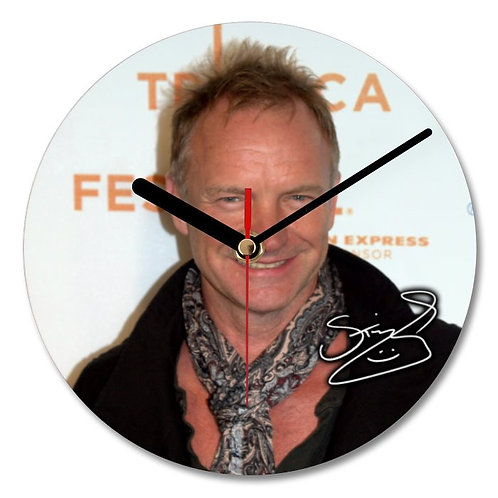 Sting Autographed Wall Clock