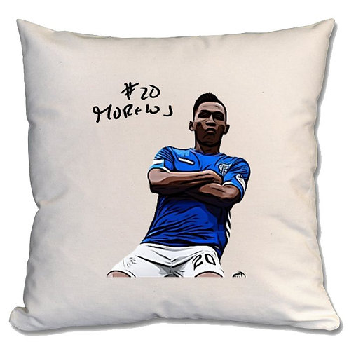 Alfredo Morelos Rangers Large Cushion
