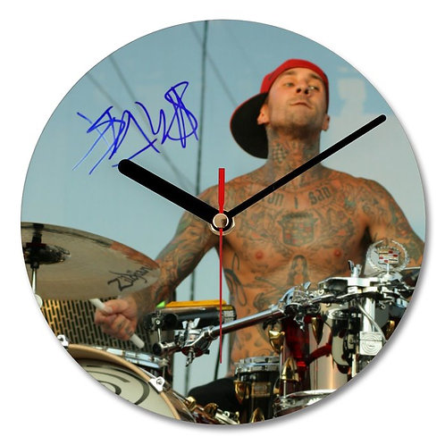 Blink 182 - Travis Barker Autographed Wall Clock