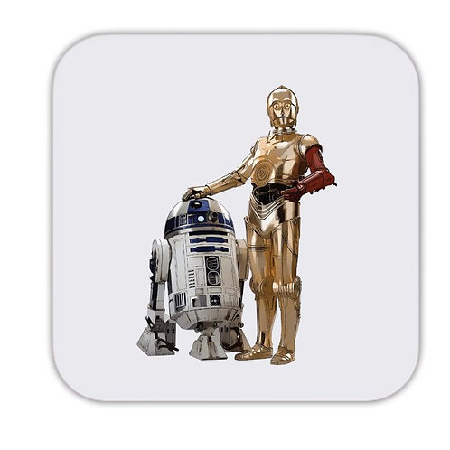 Star Wars R2D2 and C-3PO Drinks Coaster 9 x 9cm