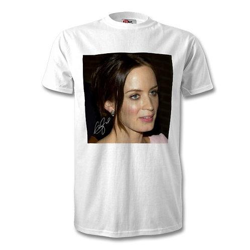 Emily Blunt Autographed Mens Fashion T-Shirt