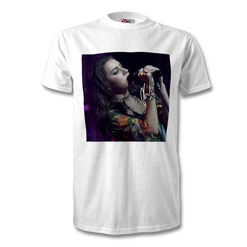Charli XCX Autographed Mens Fashion T-Shirt