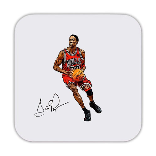 Scottie Pippen Chicago Bulls Drinks Coaster 9 x 9cm