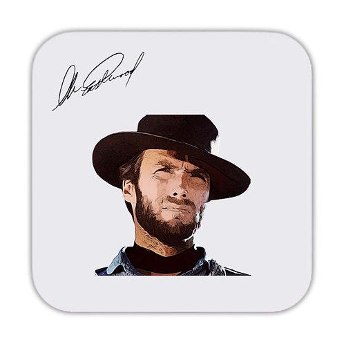 Clint Eastwood Drinks Coaster 9 x 9cm