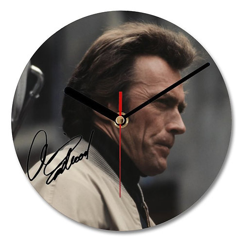 Clint Eastwood Autographed Wall Clock