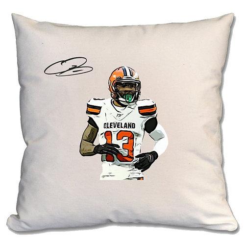 Odell Beckham Jr Cleveland Browns Large Cushion