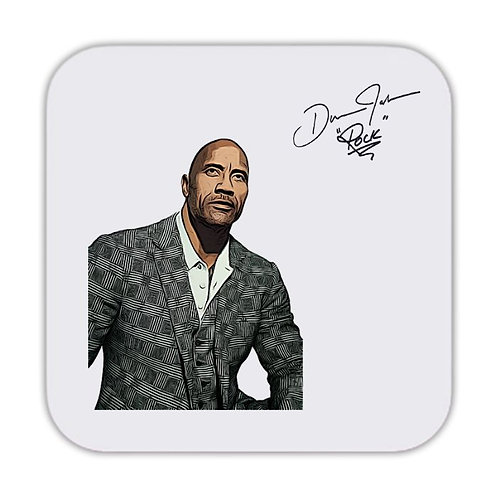 Dwayne Johnson The Rock Drinks Coaster 9 x 9cm