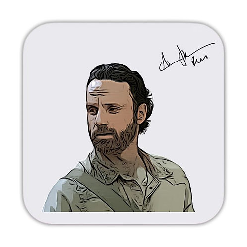 Andrew Lincoln The Walking Dead Drinks Coaster 9 x 9cm