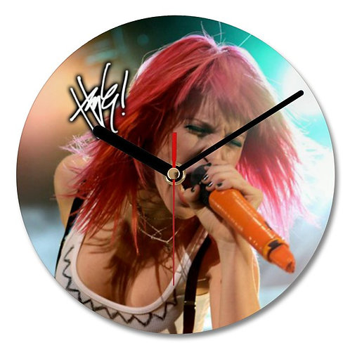 Hayley Williams Paramore Autographed Wall Clock