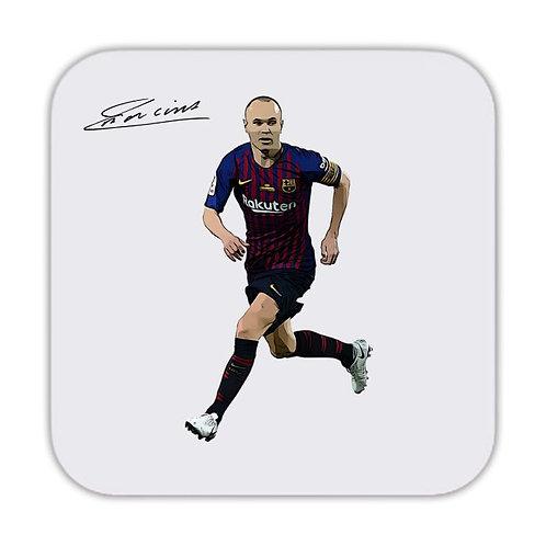 Andres Iniesta Barcelona Drinks Coaster 9 x 9cm