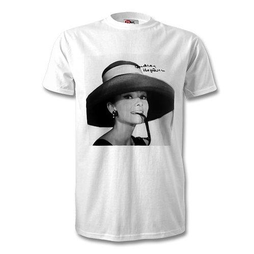 Audrey Hepburn Autographed Mens Fashion T-Shirt