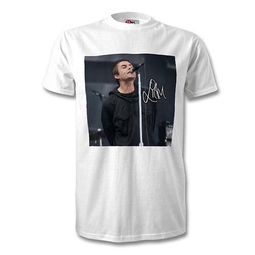 Liam Gallagher Oasis Autographed Mens Fashion T-Shirt