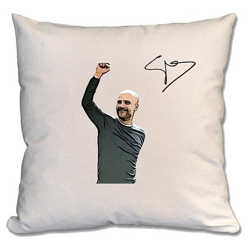 Pep Guardiola Manchester City Large Cushion