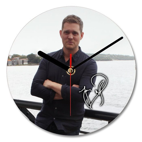 Michael Buble Autographed Wall Clock
