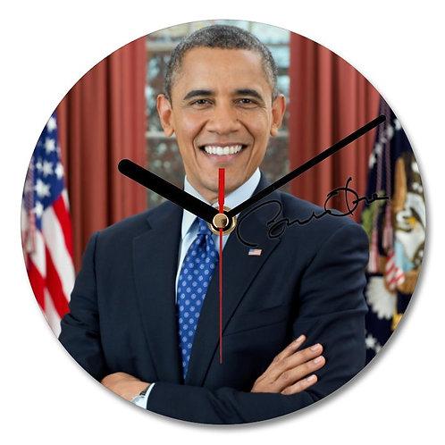 Barak Obama Autographed Wall Clock