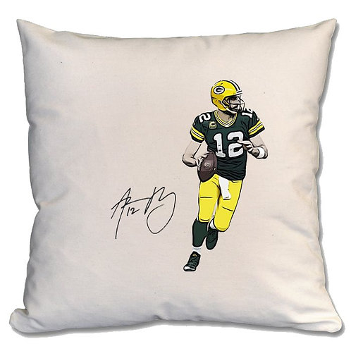 Aaron Rodgers Green Bay Packers Large Cushion