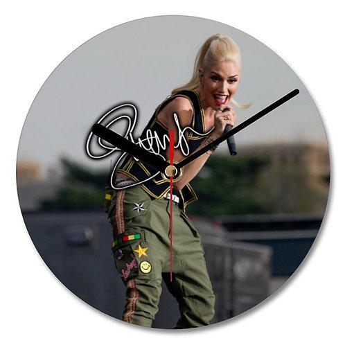 Gwen Stefani - No Doubt Autographed Wall Clock