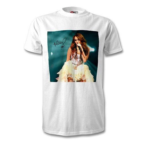 Miley Cyrus Autographed Mens Fashion T-Shirt