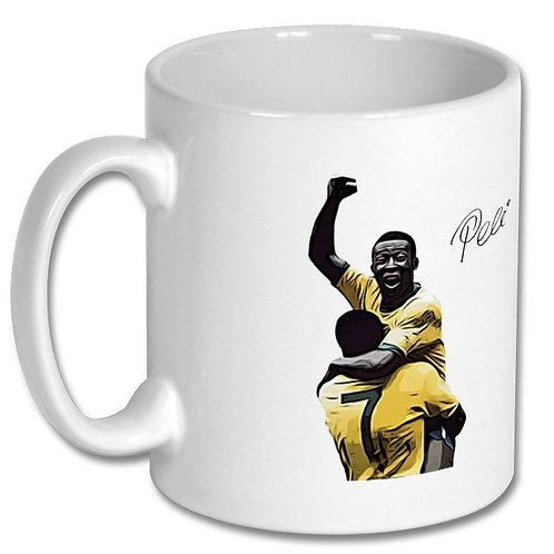 Pele World Cup Brazil 10oz Mug