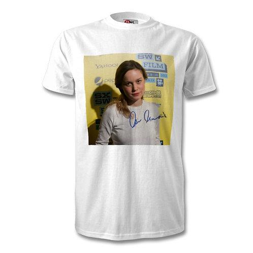 Brie Larson Captain Marvel Autographed Mens Fashion T-Shirt
