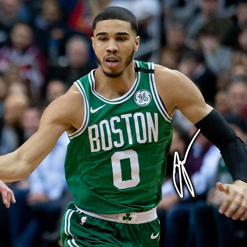Jayson Tatum - Boston Celtics - NBA Autographed Wall Clock