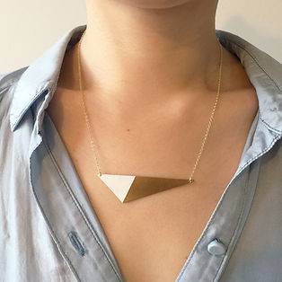 Cyclical Industry Triangle Necklace