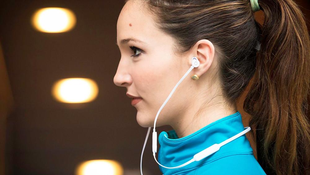 CNET Apple BeatsX Earphones Side View