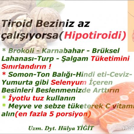 Hipotiroidi ve Beslenme