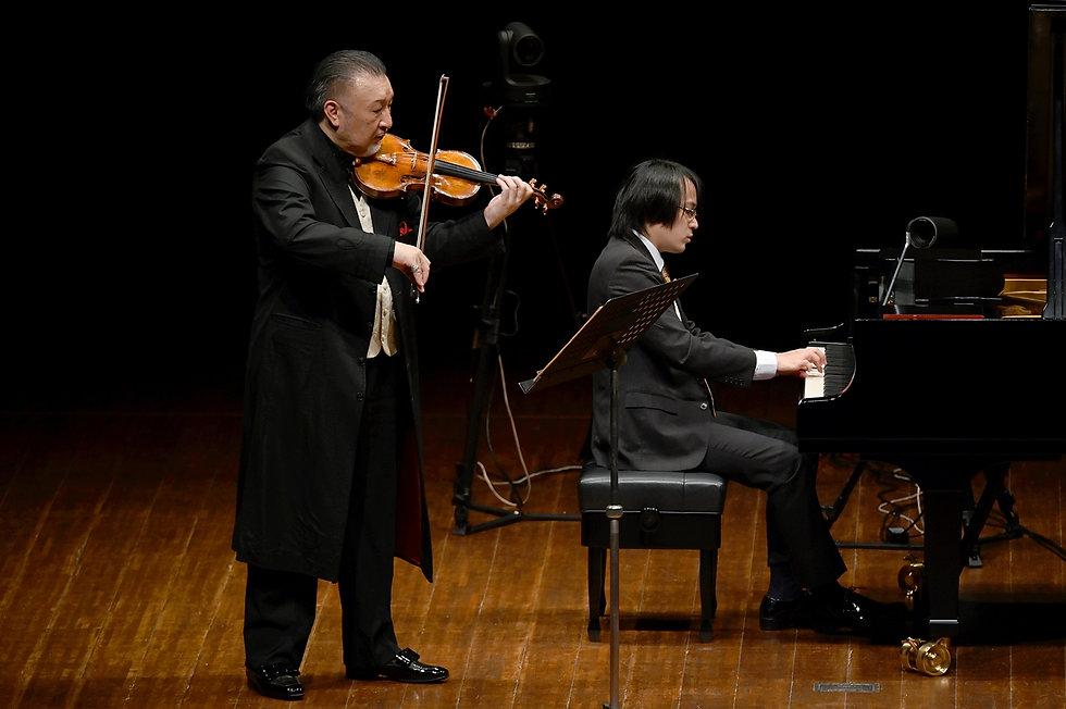 バイオリニストとピアニスト