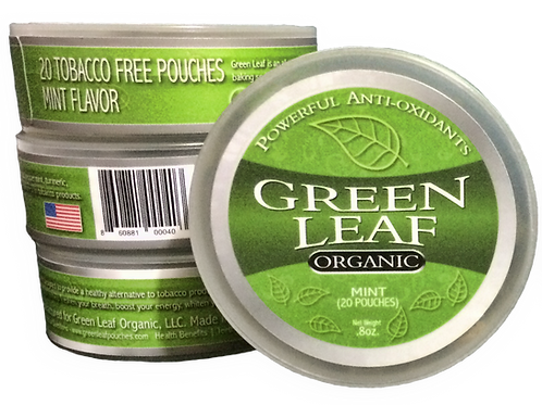 (10-Pack) Green Leaf Organic Mint Chew Pouches